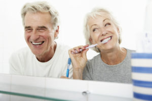 senior couple, smiling couple, senior dental care