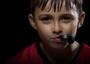 young student athlete mouthguard