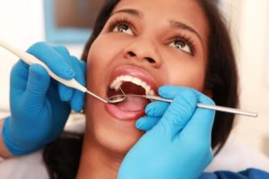 Woman at dental appointment