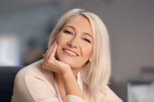 attractive woman smiling nice teeth